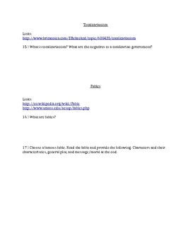 Animal Farm Background Webquest