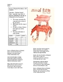 Animal Farm Beasts of England Recitation Assignment