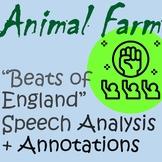 Animal Farm Beasts of England Speech Deceptive Language An
