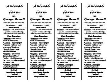 Animal Farm Bookmark