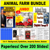 Animal Farm PowerPoint Bundle:  Background, Symbolism, Jeo