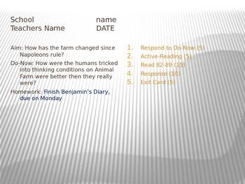 Animal Farm Chapter 7 PPT