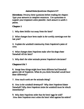 Animal Farm Chapter 5-7 Study Questions