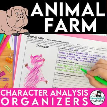 Animal Farm Character Analysis Graphic Organizers