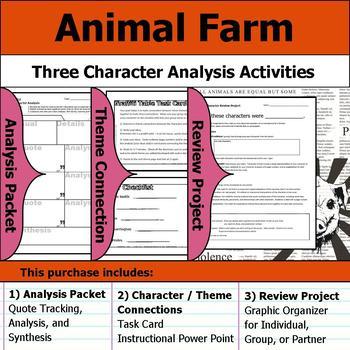 animal farm book characters