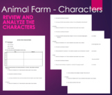 Animal Farm - Character Sheet - Round and Flat - Analysis