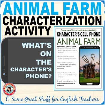 Animal Farm Characterization Cell Phone Activity --Fun and Creative
