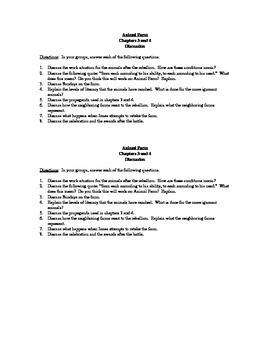 Animal Farm Chs 3+4 Discussion Questions
