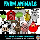 Farm Animals Clip Art for Personal and Commercial Use