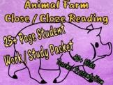 Animal Farm Close / Cloze Reading Student Packet and Teacher Presentation