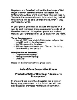 Animal Farm Collaborative Groups