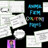 Animal Farm Coloring Pages: Mini Posters
