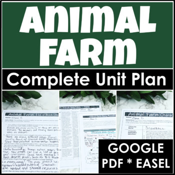 Animal Farm Unit Plan With Four Weeks Of Lessons, Activities and Essay Writing