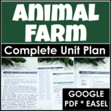 Animal Farm Unit Plan with Google Drive for Distance Learning