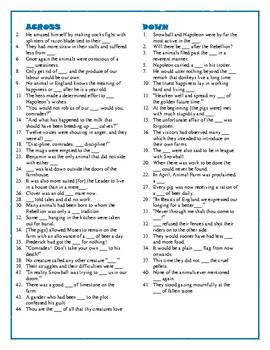 Animal Farm: Completing Quotations Crossword—Fun!