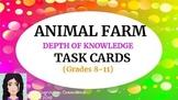 Animal Farm: Critical Thinking Task Cards