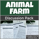 Animal Farm Discussion Bundle with Three Engaging Socratic Seminar Activities