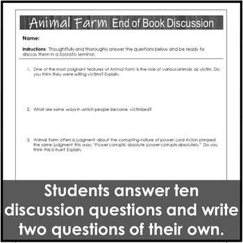 Animal Farm Review Discussion Activity