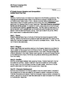 Animal Farm Essay Test