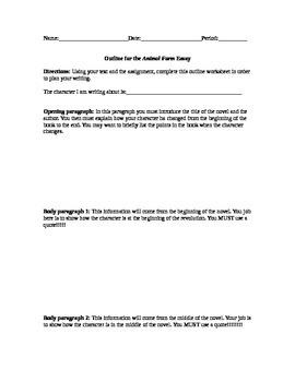 Animal Farm Final Essay Outine