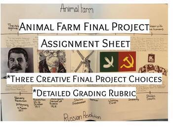 Animal Farm Final Project Choices