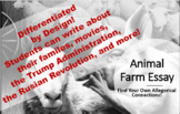 Animal Farm Essay Final Project - Text to Self, Text to Text, Text to World