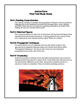Animal Farm- Final Test Study Guide