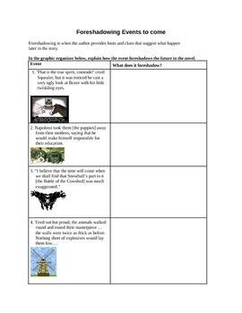 Animal Farm Foreshadowing Graphic Organizer
