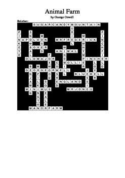 Animal Farm - General Knowledge Crossword Puzzle