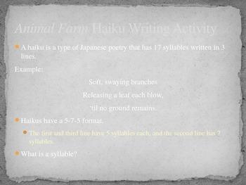 Animal Farm Haiku Writing