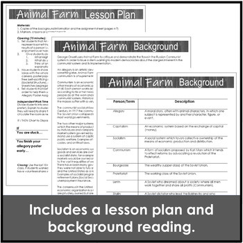 Animal Farm Introduction Activity with Background and a Mini Allegory