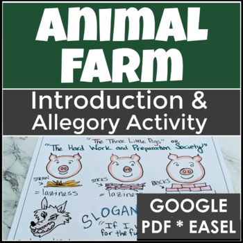 Animal Farm Introduction Activity with Background and a Mi