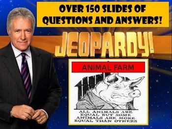 Animal Farm Jeopardy PowerPoint, 3 Jeopardy Games