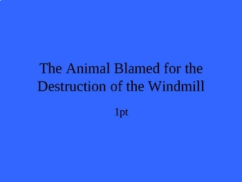 Animal Farm Jeopardy, Part II