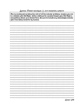 Animal Farm Journal Prompts
