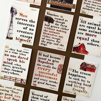 Animal Farm: Key Quotes POSTERS