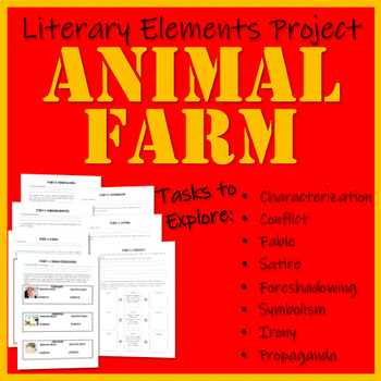 Animal Farm Literary Elements Project By Aprilteaches Tpt
