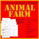 Animal Farm Literary Elements Project