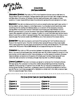 Animal Farm Literature Circle Handout