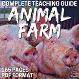 Animal Farm Literature Guide, Complete Unit PACKET   DISTA