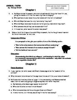 ANIMAL FARM Novel Study