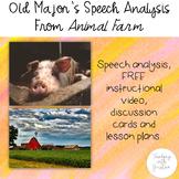 Animal Farm by George Orwell: Speech Analysis, FREE VIDEO,