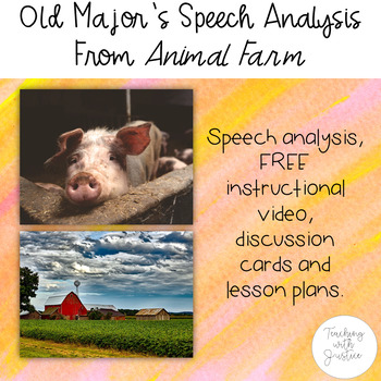 Animal Farm by George Orwell: Speech Analysis, FREE VIDEO,