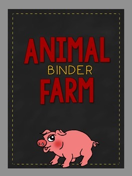 Animal Farm Organizer: Covers, Spines, & Planning Sheets