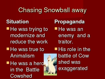 Animal Farm Orwell Propaganda Power Point and Graphic Organizer