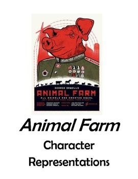 Animal Farm Picture Posters Character Representations