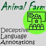 Animal Farm Pig Rhetoric, Propaganda, and Deceptive Langua