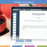 Animal Farm Propaganda Activity and Power Point