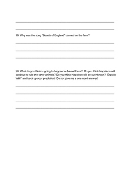 Animal Farm Quiz Chapters 5-8