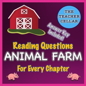 Animal Farm Reading Check Quizzes / Questions for each Chapter with Answer Key